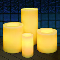 All weather flameless candles