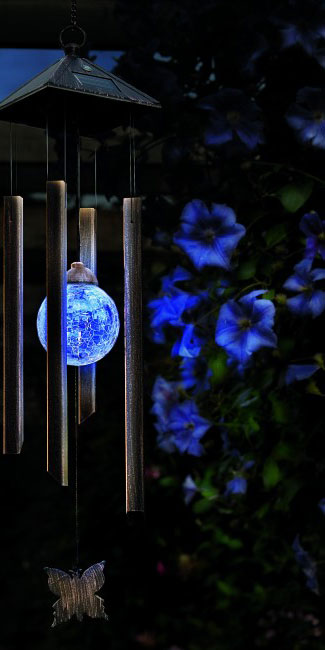 Gardman - Solar Wind Chime Garden Light